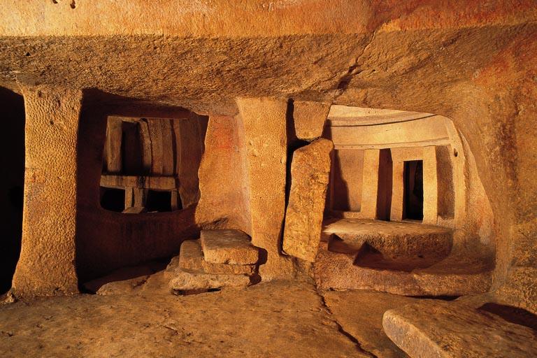 sala en el segundo nivel del Hipogeo