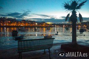 puesta del sol en Marsaskala