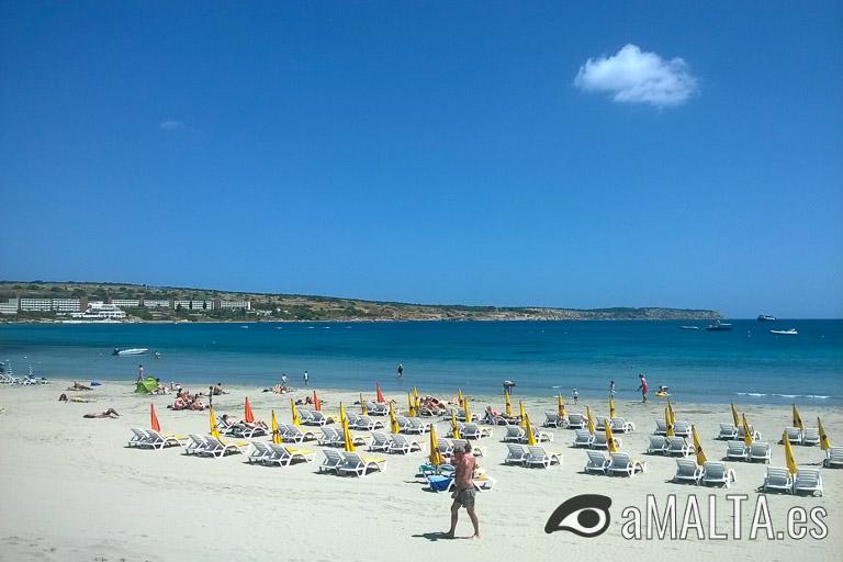 Għadira Bay en Mellieħa