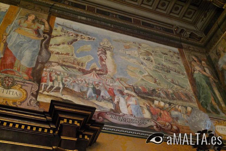 sala del trueno en el palacio del gran maestre