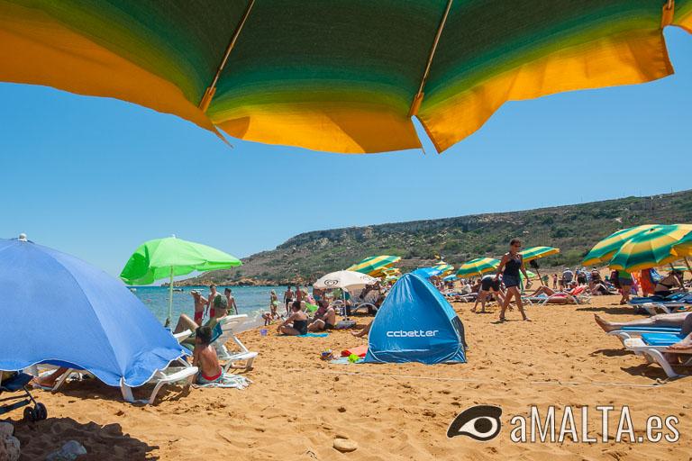 Bahía de Ramla en Gozo
