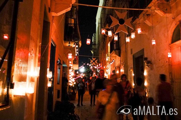 Calle de Birgu durante el Birgufest