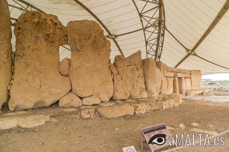 muros perimetrales del templo de Ħaġar Qim